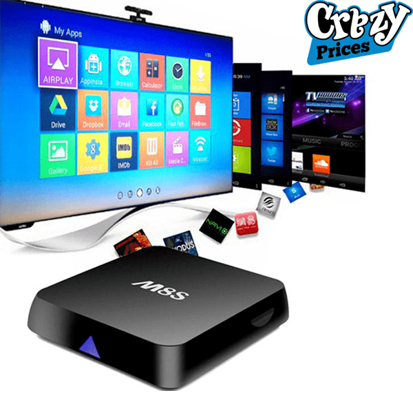 Android Smart Tv box M8S 2G+8G Quad core 2k+4k Price & specification
