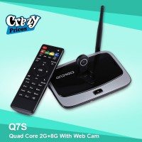 Android Smart TV Box Quad Core 2G+8G with Web Cam Q7S