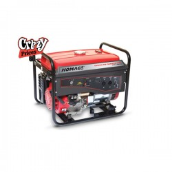 HOMAGE 5KVA GENERATOR WITH WHEEL+GAS KIT+OIL (HGR-5.05 KVD)