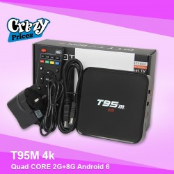 Android Smart TV BOX Quad CORE 2G+8G T95M 4k 6.0